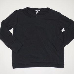 LNA Black Crewneck Sweatshirt